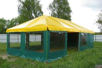 От чего зависят цены на шатры для дачи и отдыха из ПВХ ткани
